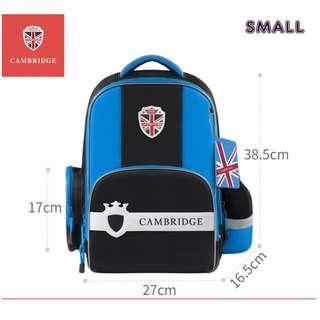 🚚 Korea Brand Cambridge School Bag Good Posture Good Spinal Backpack Waterproof Night Reflective -Blue (Small)