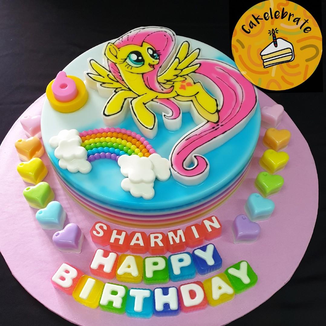 2d 9' Fluttershy Jelly Birthday Cake