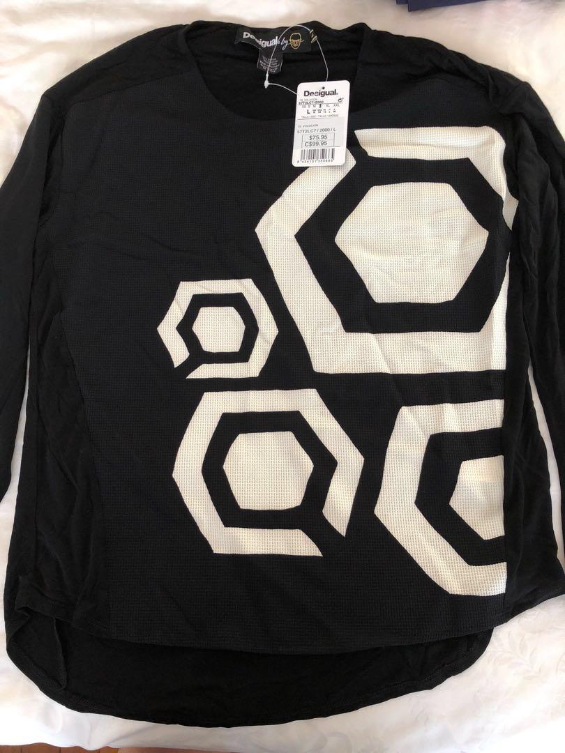 87db4e975c25e8 60% off Desigual long sleeve Blouse   T shirt