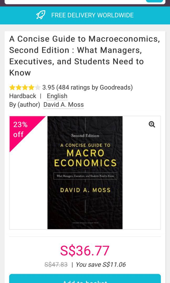 A Concise Guide To Macroeconomics By David A Moss 2nd