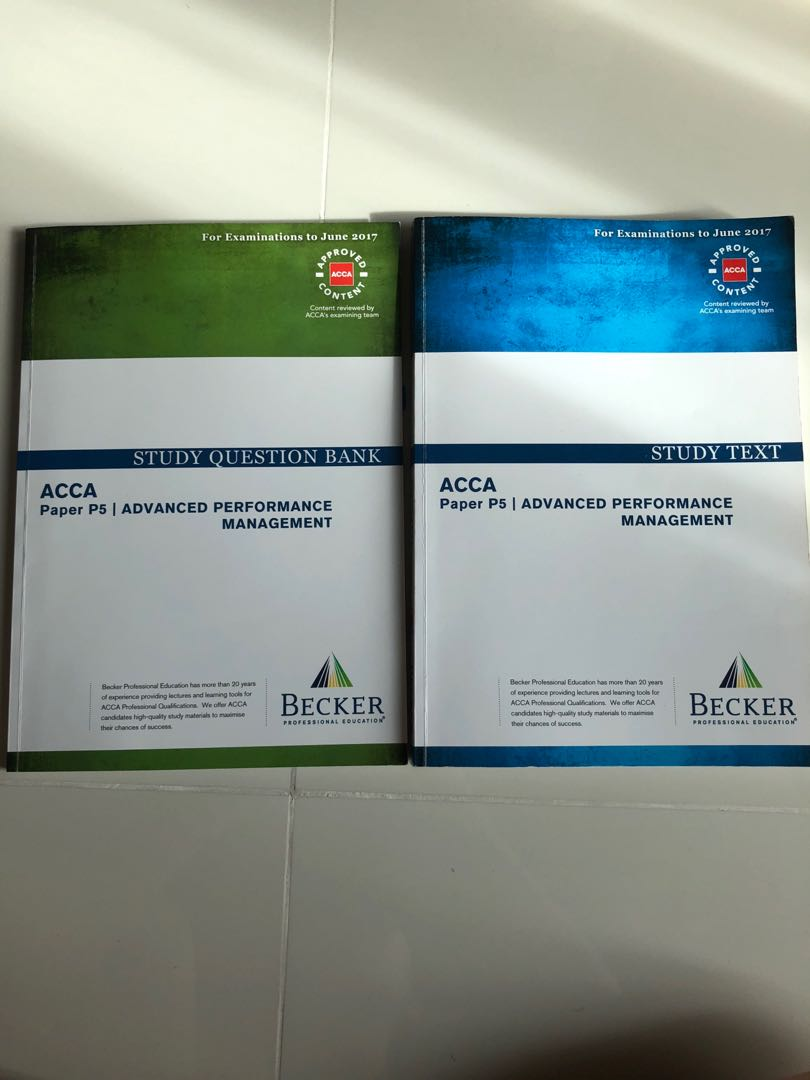 ACCA P5 Advanced Performance Management study reference text book