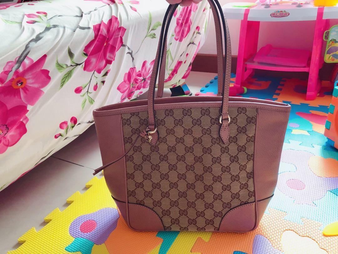 2a588d21425353 Authentic Gucci Bree Original GG Canvas Tote, Women's Fashion, Bags ...