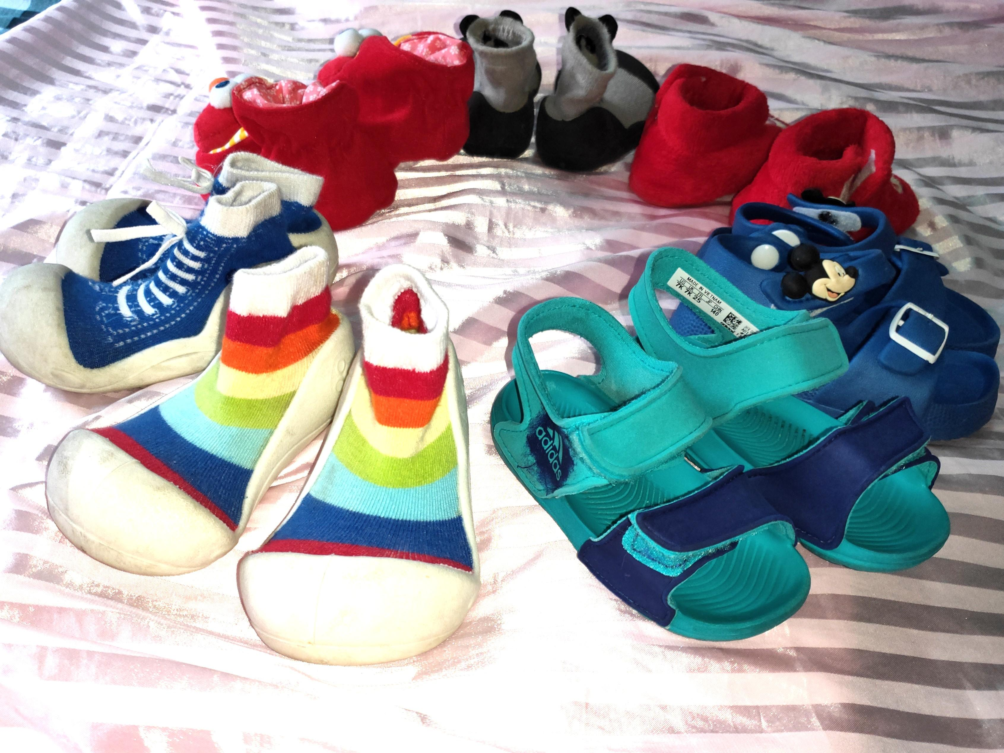 Baby shoes toddlers 6 7 8 9 12 18  months attipas adidas mickey elmo