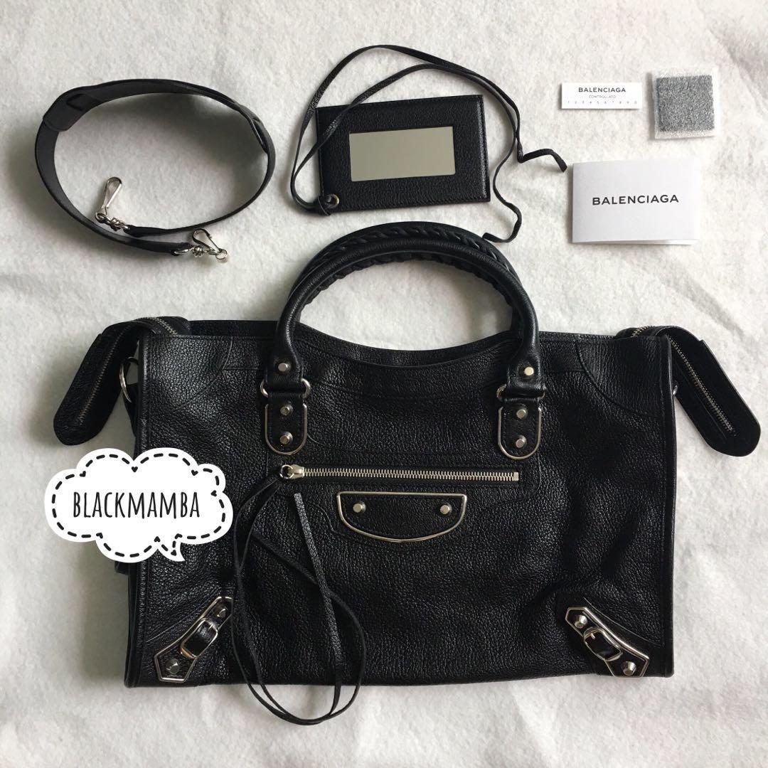 Balenciaga Black Silver Metallic Edge City Bag brand new, Luxury, Bags    Wallets, Handbags on Carousell 0f84a223f4