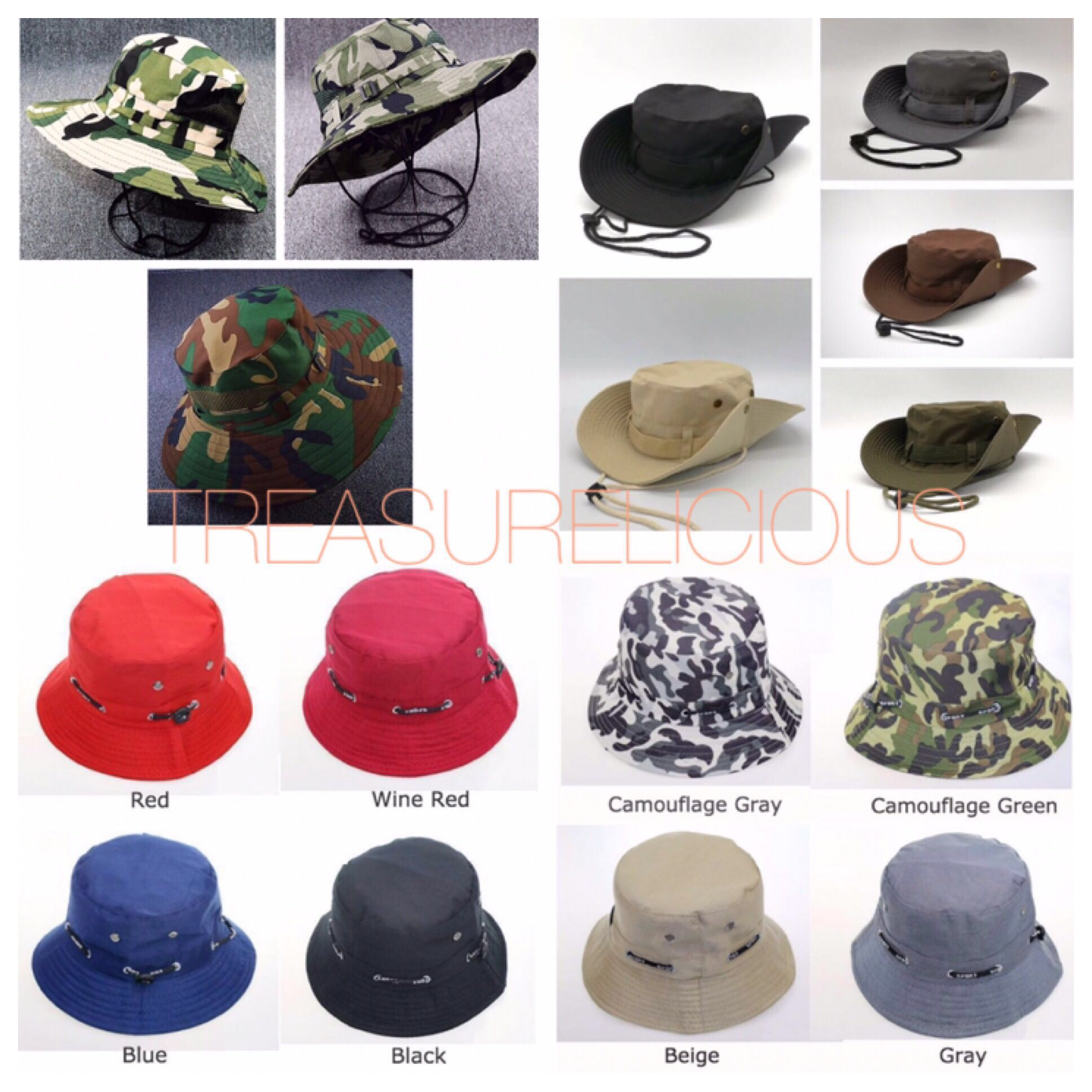 fee934c611f Boonie Hat  Bucket  Army  Desert  Camo  Jungle  Wide Brim  Military ...