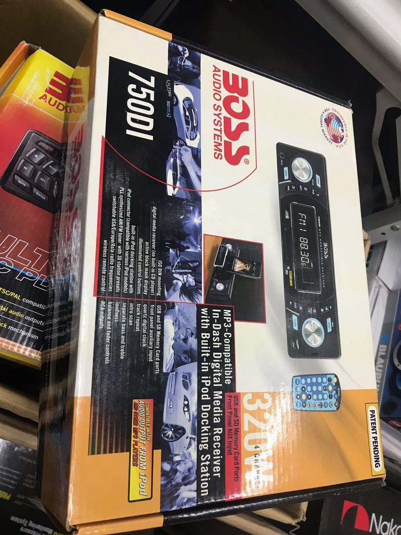 BOSS 750DI MP3-Compatible In-Dash Digital Media Receiver