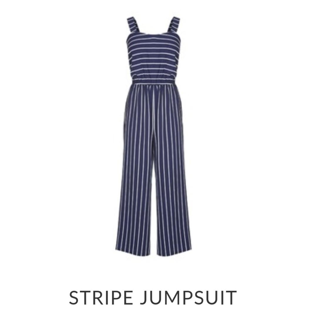 BRAND NEW CROSSROADS STRIPE JUMPSUIT SIZE 16 PAID $79.95