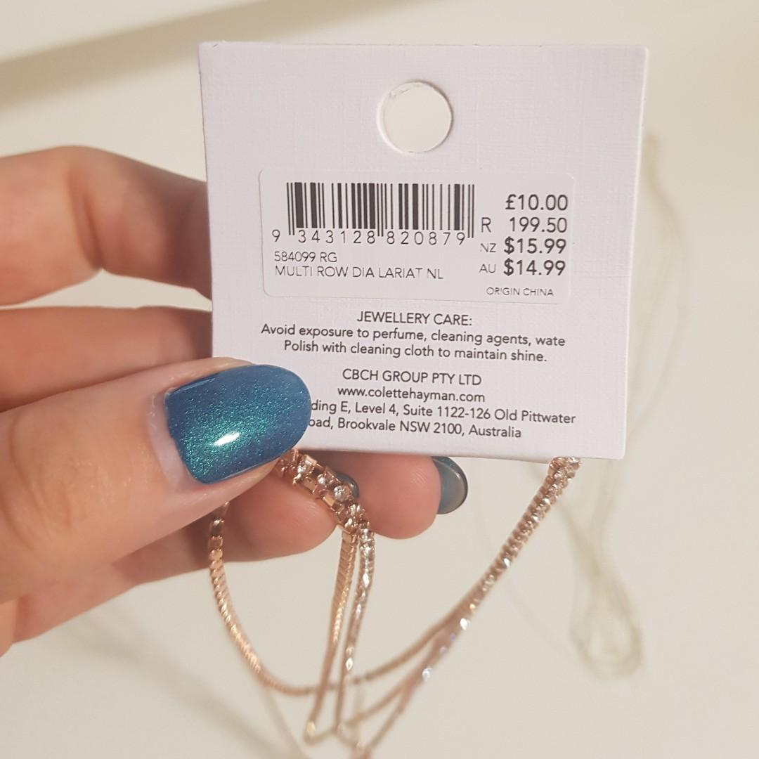 BRAND NEW WITH TAGS COLETTE ROSE GOLD NECKLACE RRP$14.99