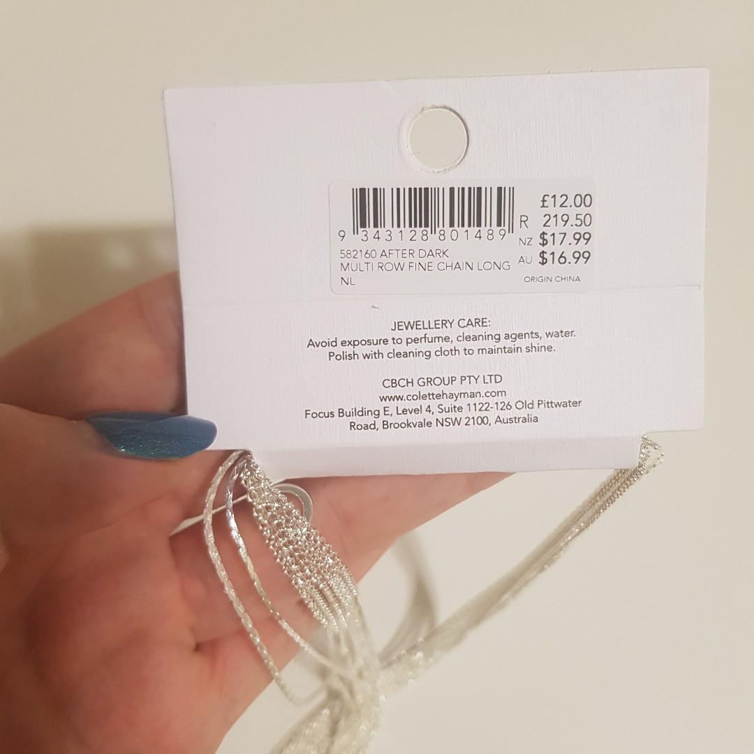 BRAND NEW WITH TAGS COLETTE SILVER NECKLACE RRP $16.99