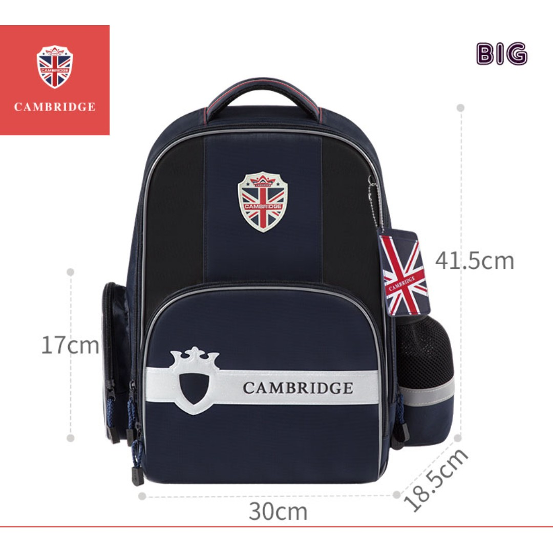 78eea90f0e44 Cambridge School bag Korea style Primary 1 to Primary 6 Air-Cell Spinal  Protection Night Reflective Waterproof backpack for Girls and Boys - Dark  Blue (Big) ...