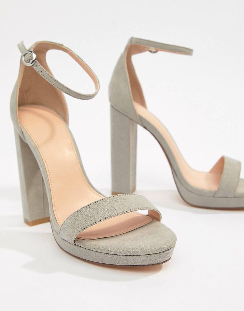 75a2ad4e428 Coco Wren Grey Platform Heeled Sandals