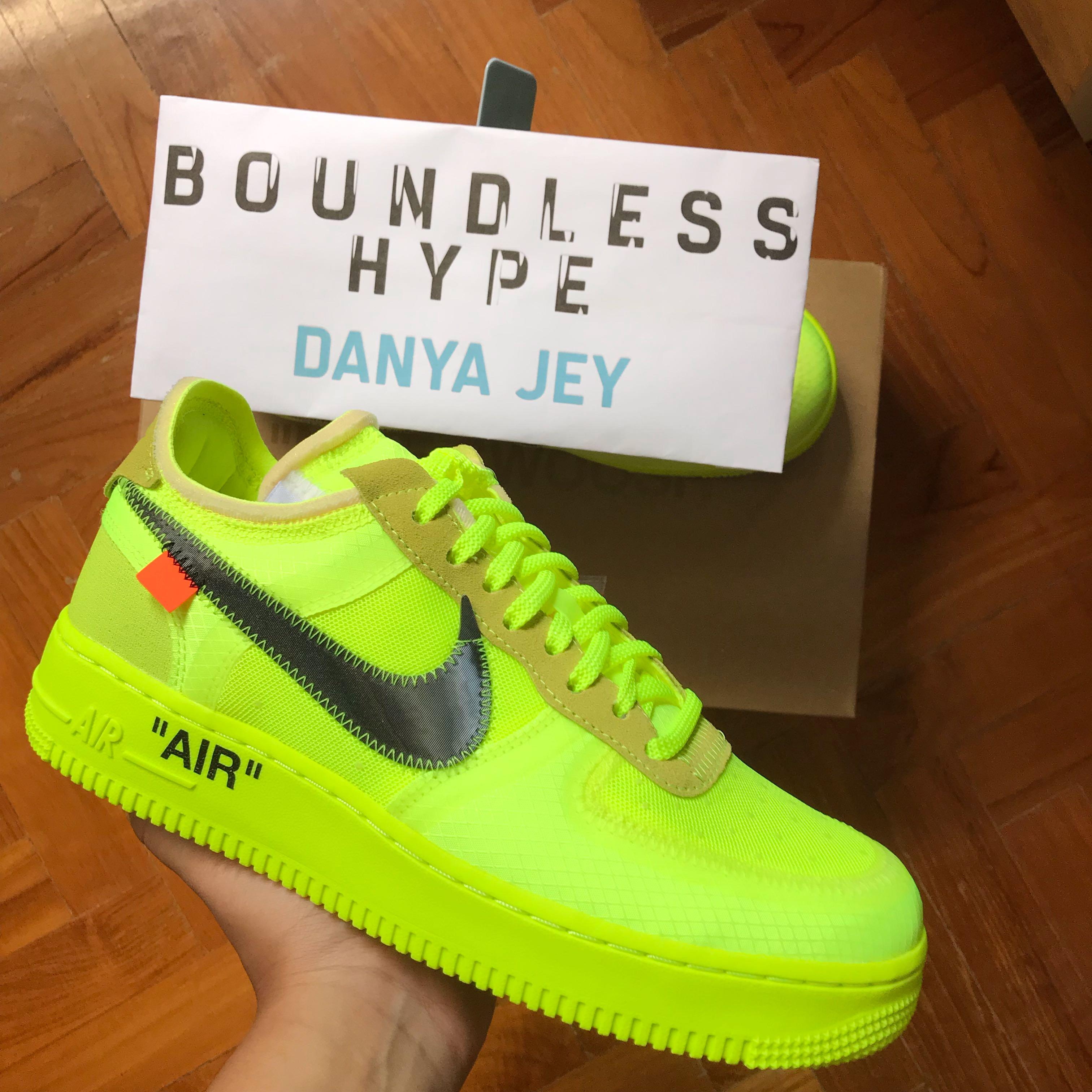 Customer's Order: Off White x Nike Air Force 1 VoltBlack
