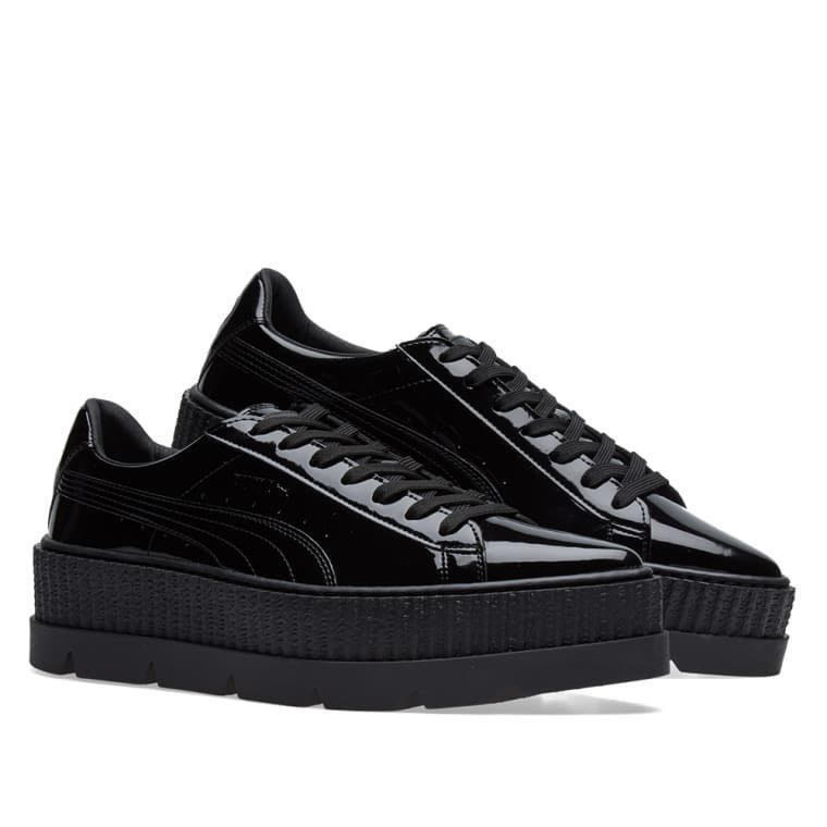 official photos 13101 eb5db FENTY X PUMA Black Pointed Patent Creeper
