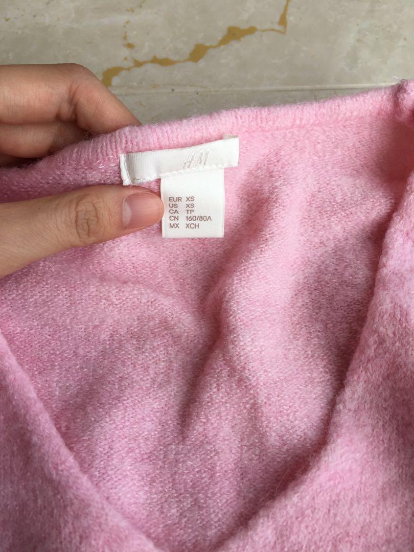 H&M Pink Sweater 粉紅色冷衫