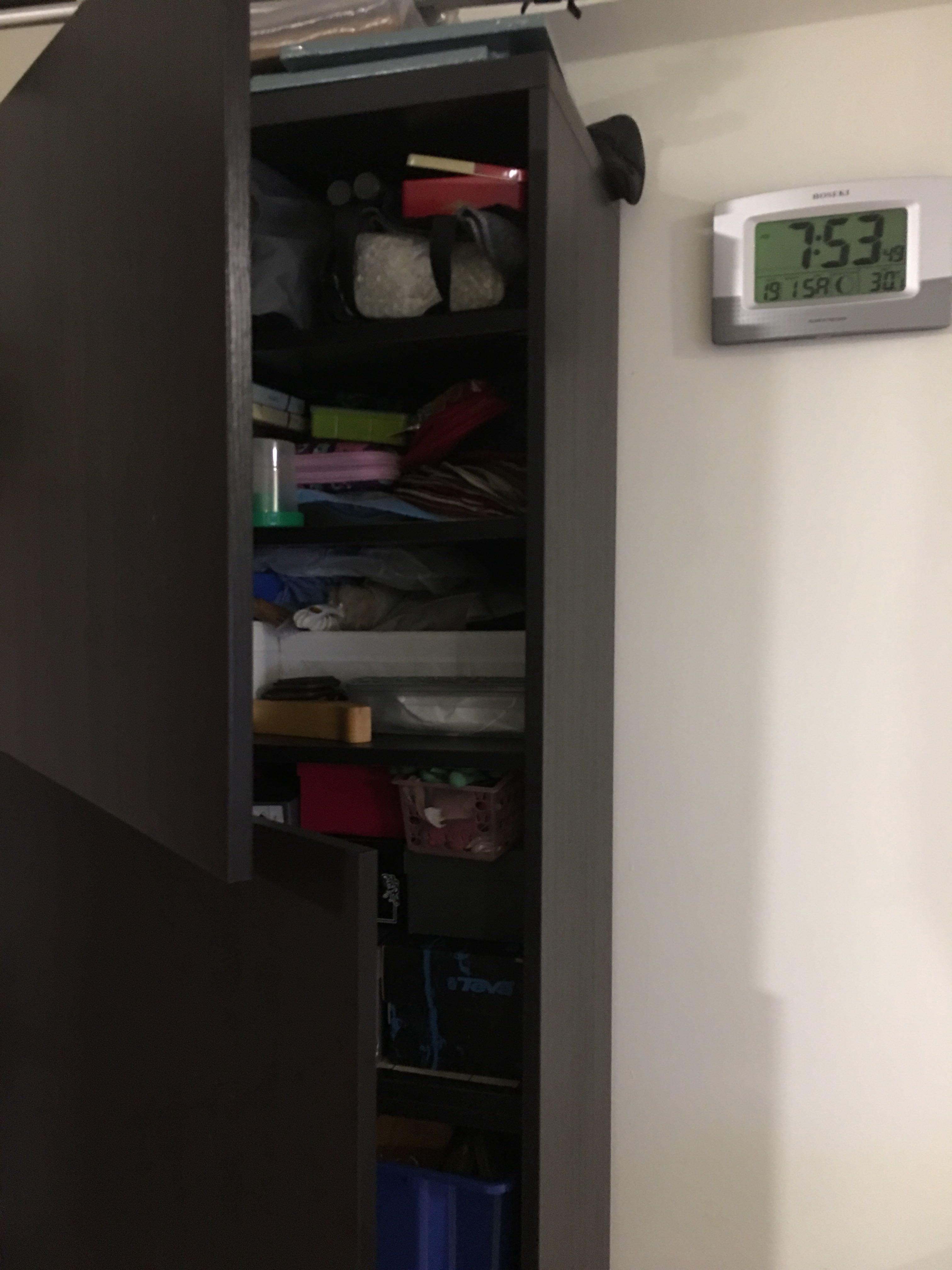 IKEA Besta shelf w doors, Furniture, Shelves & Drawers on