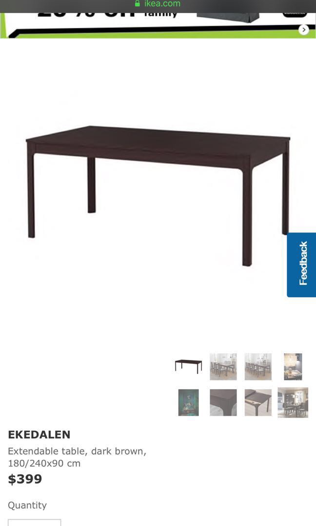 Ikea Ekedalen Extendable Table Furniture Tables Chairs On Carousell