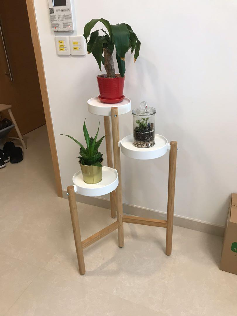 Ikea Plant Stand Priced To Sell Furniture Others On Carousell