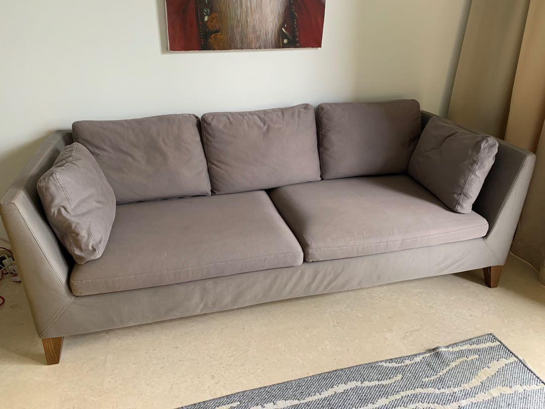 Strange Ikea Stockholm 3 Seater Sofa Furniture Sofas On Carousell Interior Design Ideas Ghosoteloinfo