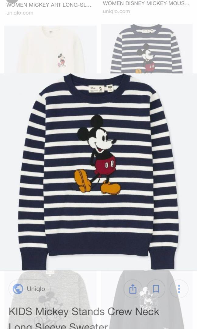 ed3c11b9424 Kids Mickey stands crew neck long sleeve sweater