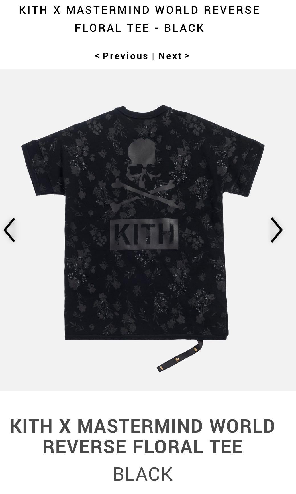 17d78d68f9b Kith X Mastermind World Reverse Floral Tee Black