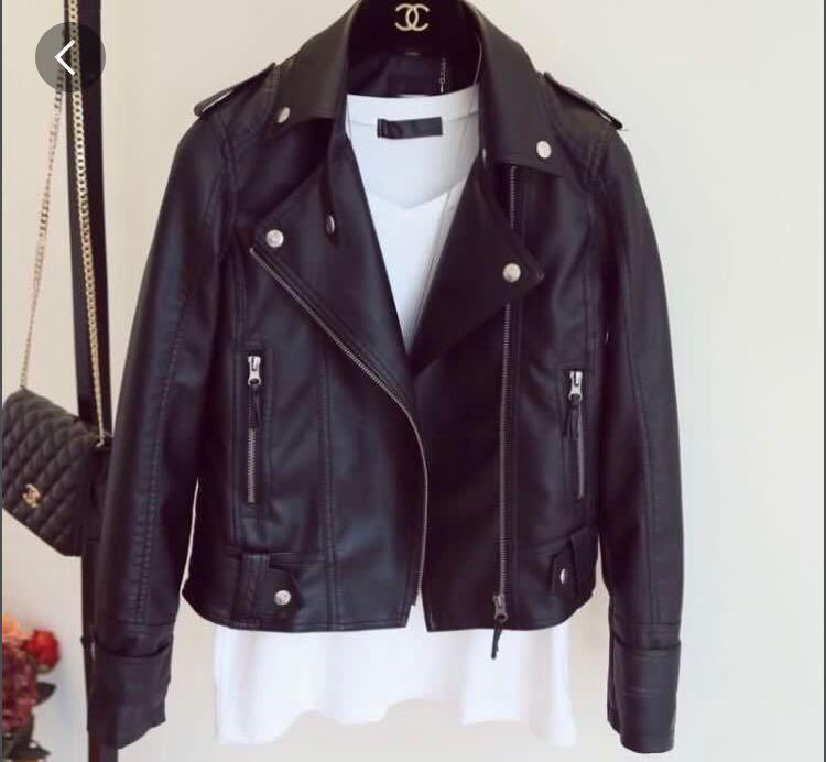 1153b8afe Korean Black Leather Jacket