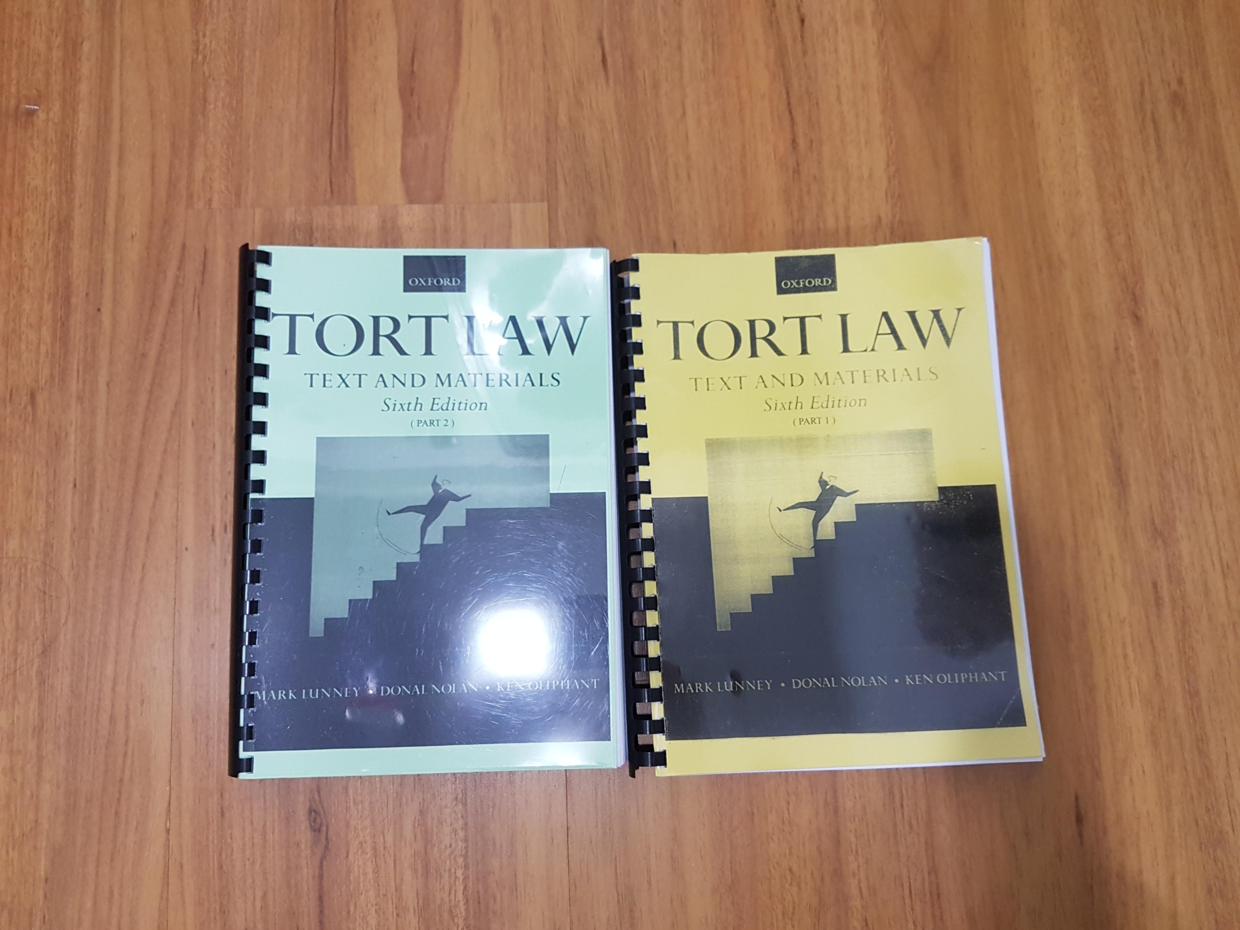 LLB Year 2 Tort Law Textbook LLB