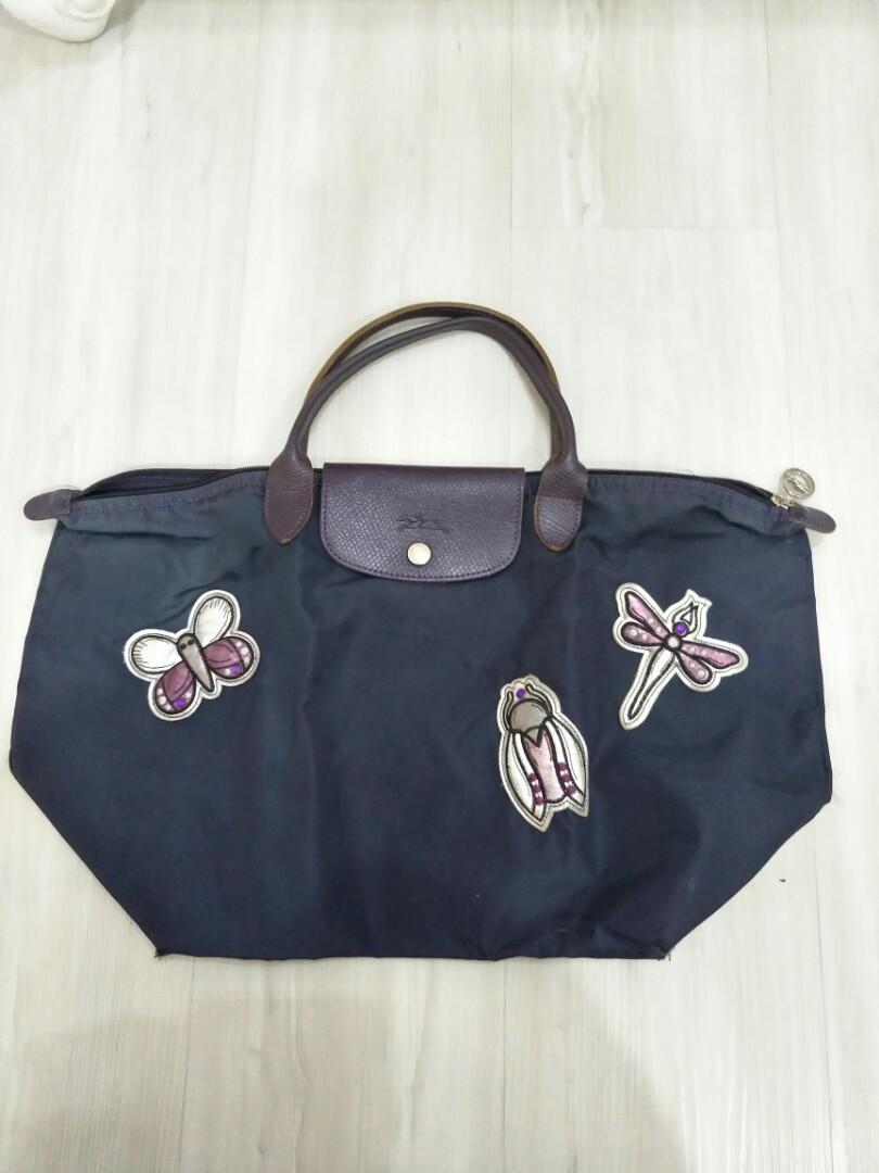 aff61ce7a7 Longchamp short handle medium purple bag, Women's Fashion, Bags ...