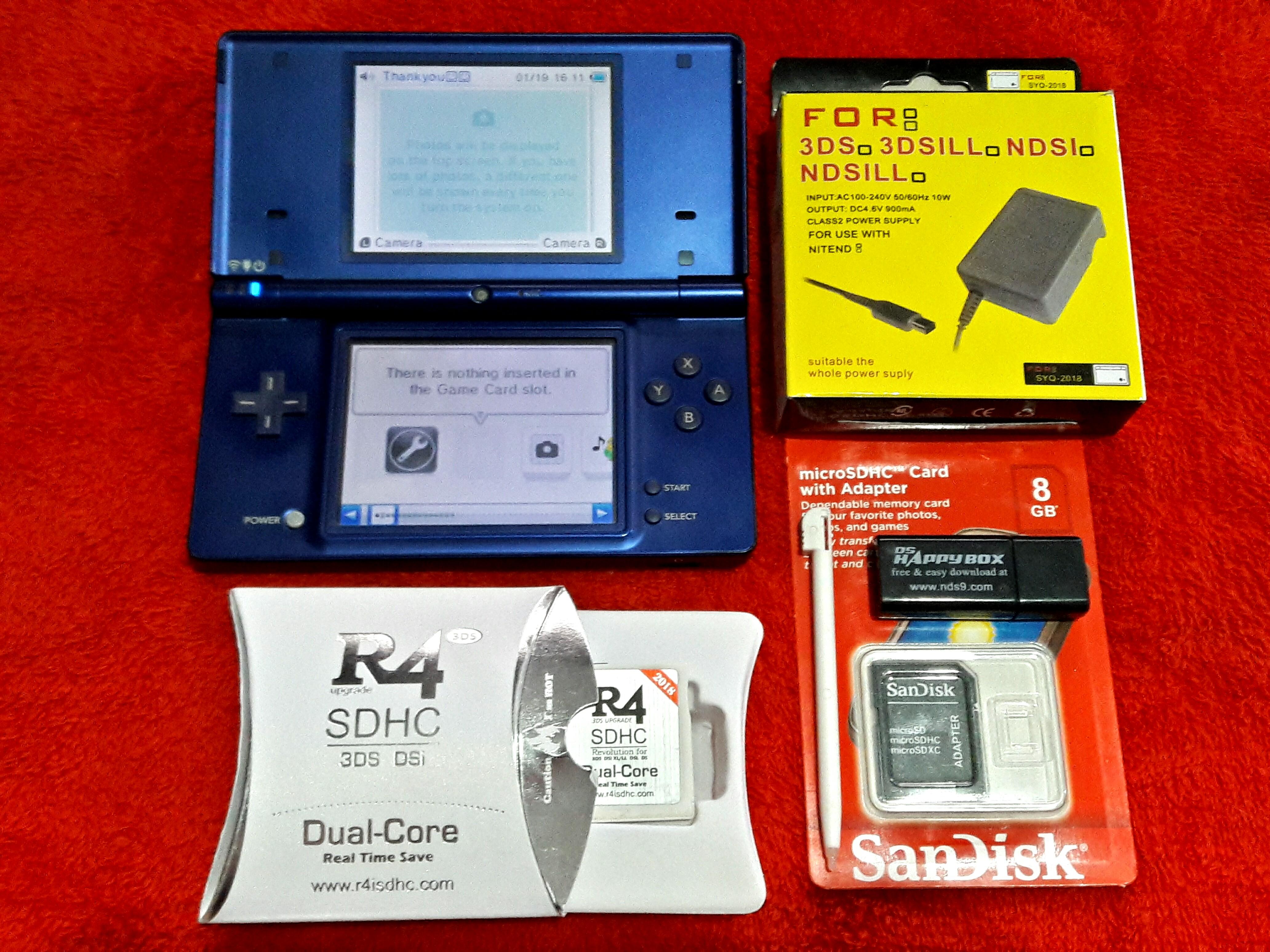 105 Games Blue Nintendo Dsi R4 8gb