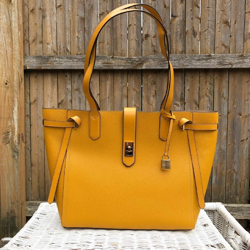 6d623680d307 Michael Kors Cassie Large Tote in Marigold