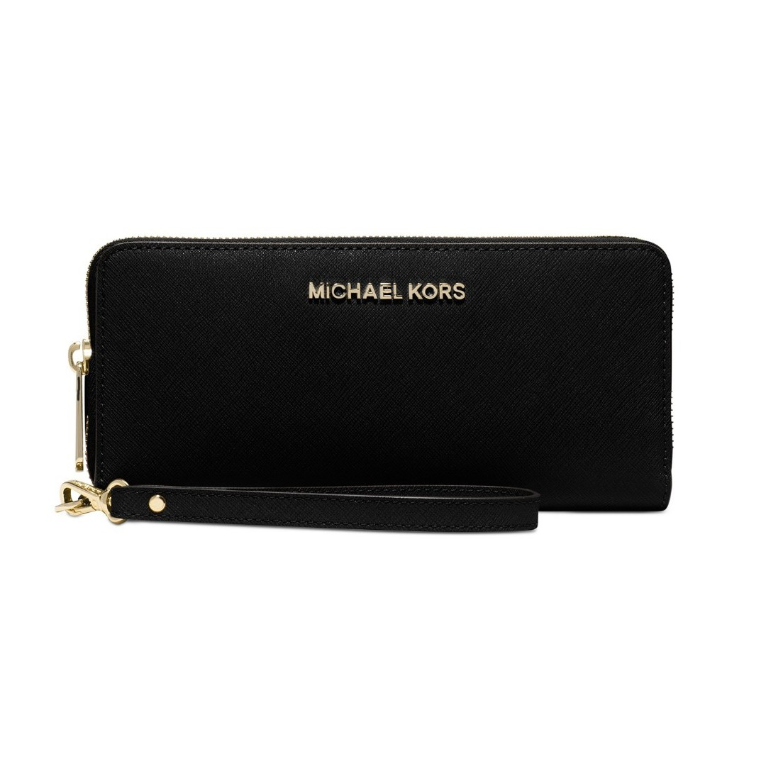 28ecaaba512f Michael Kors Jet Set Travel Crossgrain Leather Continental Wallet ...