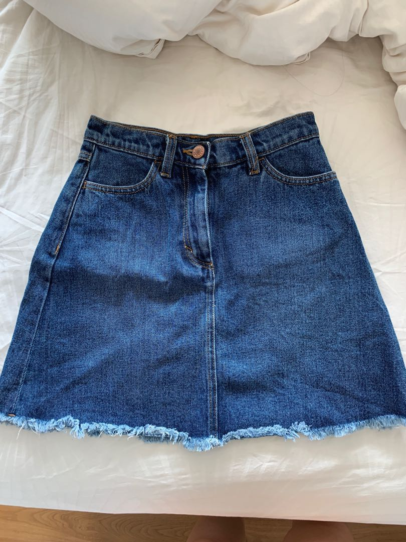 796e925b98 Monki Denim Skirt, Women's Fashion, Clothes, Dresses & Skirts on ...
