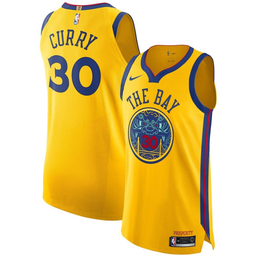 buy popular ea1d2 aa56b NBA Golden States Warrior Stephen Curry Authentic Jersey 球員版