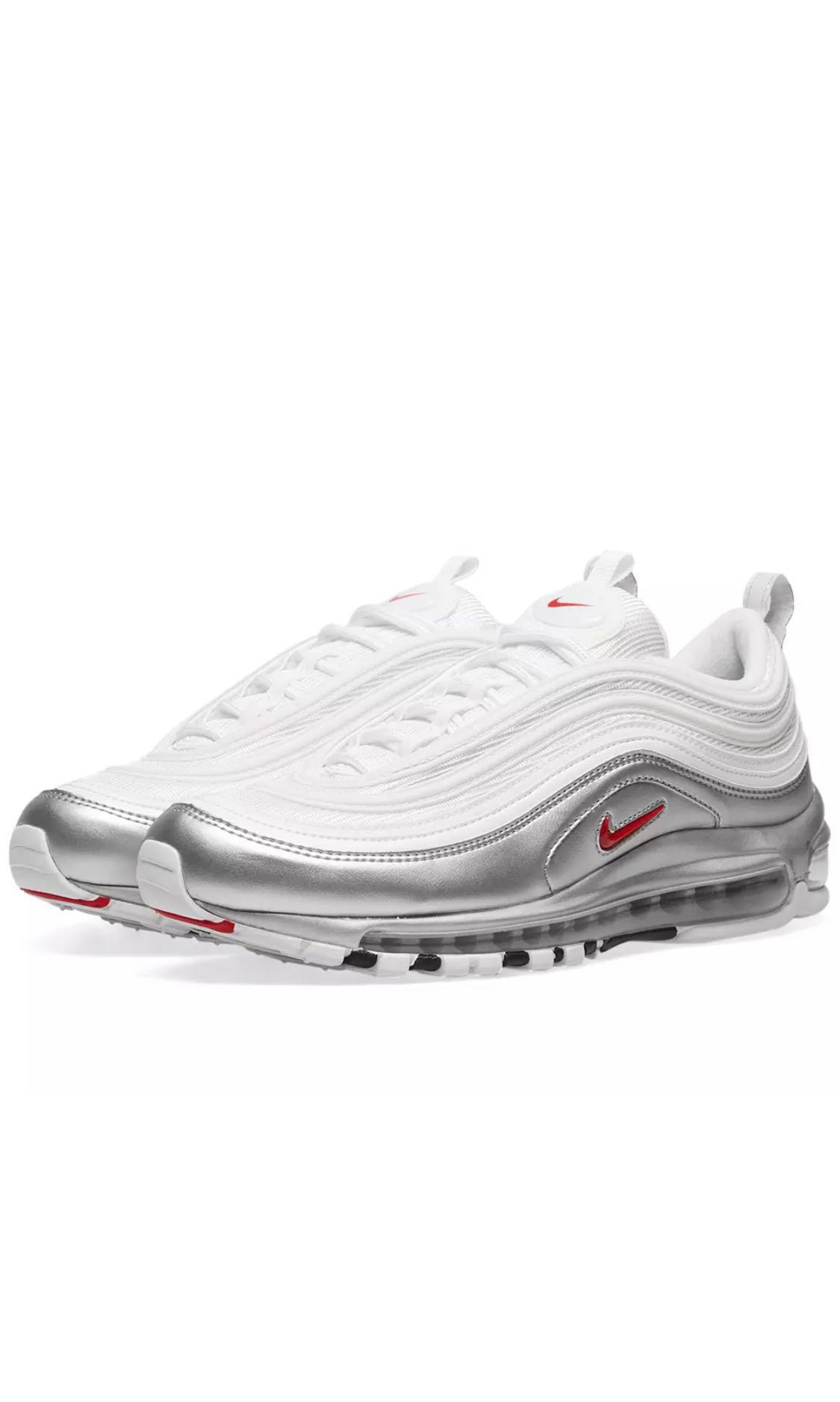 71e83c1ee3 Nike Air Max 97 QS (WHITE/VARSITY RED/SILVER), Men's Fashion ...