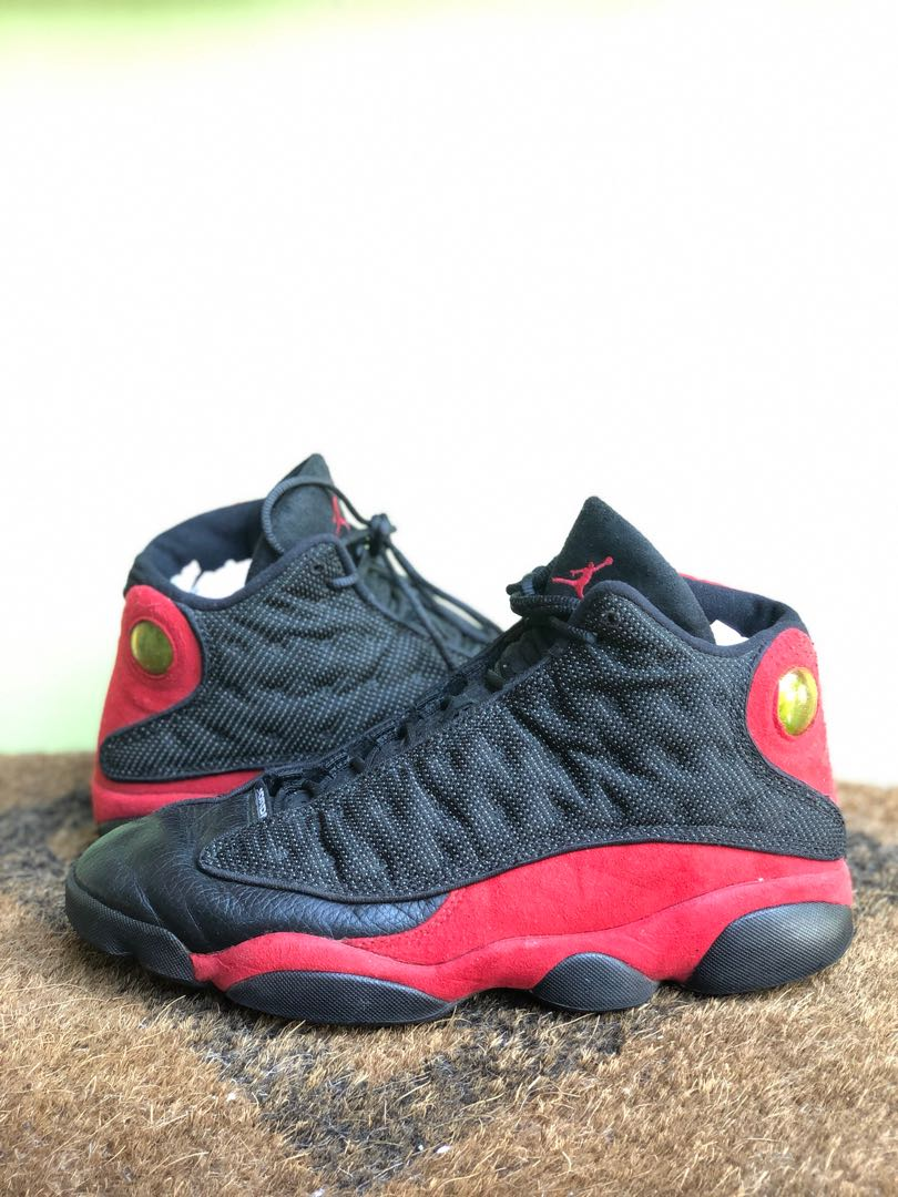 c658d0d8c36e Nike Men s Air Jordan 13 XIII Retro Black Red BRED 2013 Basketball ...