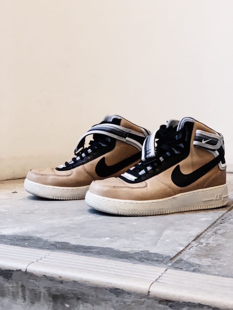 le dernier 2aeac 9dff1 Nike Riccardo Tisci Air Force 1 High (Beige/Black/White)