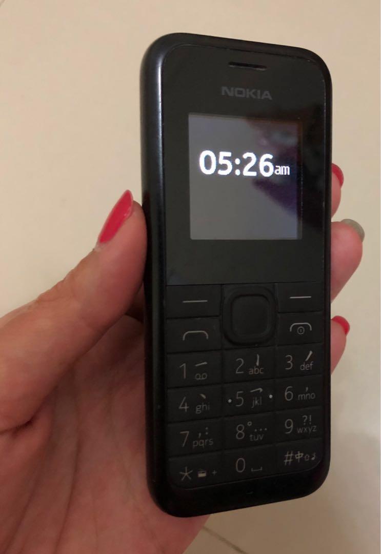 Nokia 105 Hitam Fullset
