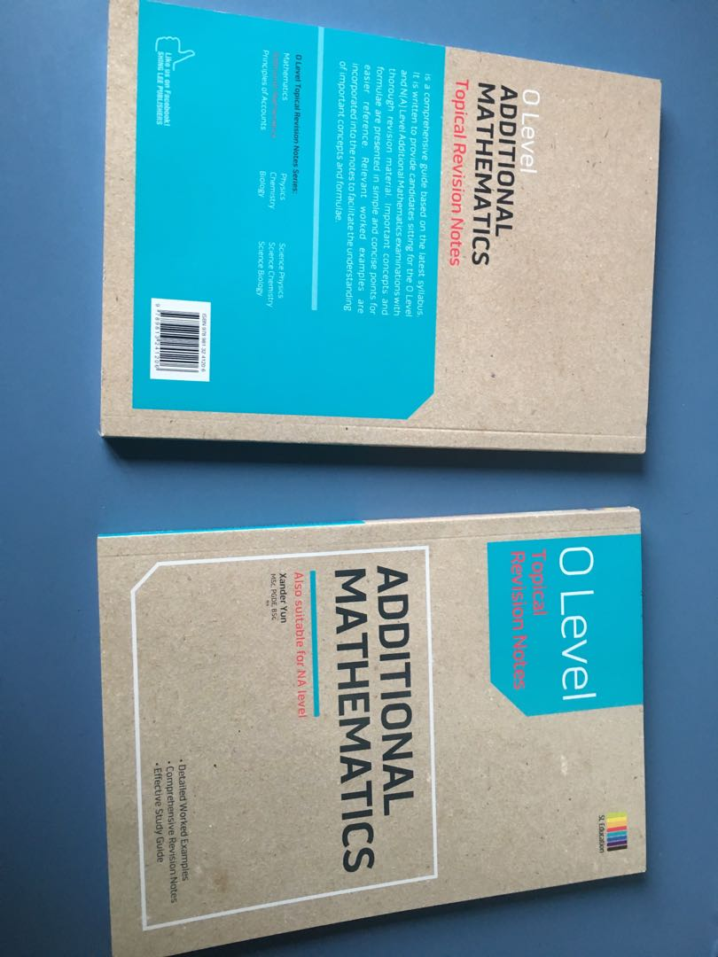 O level A- math revision notes, Books & Stationery