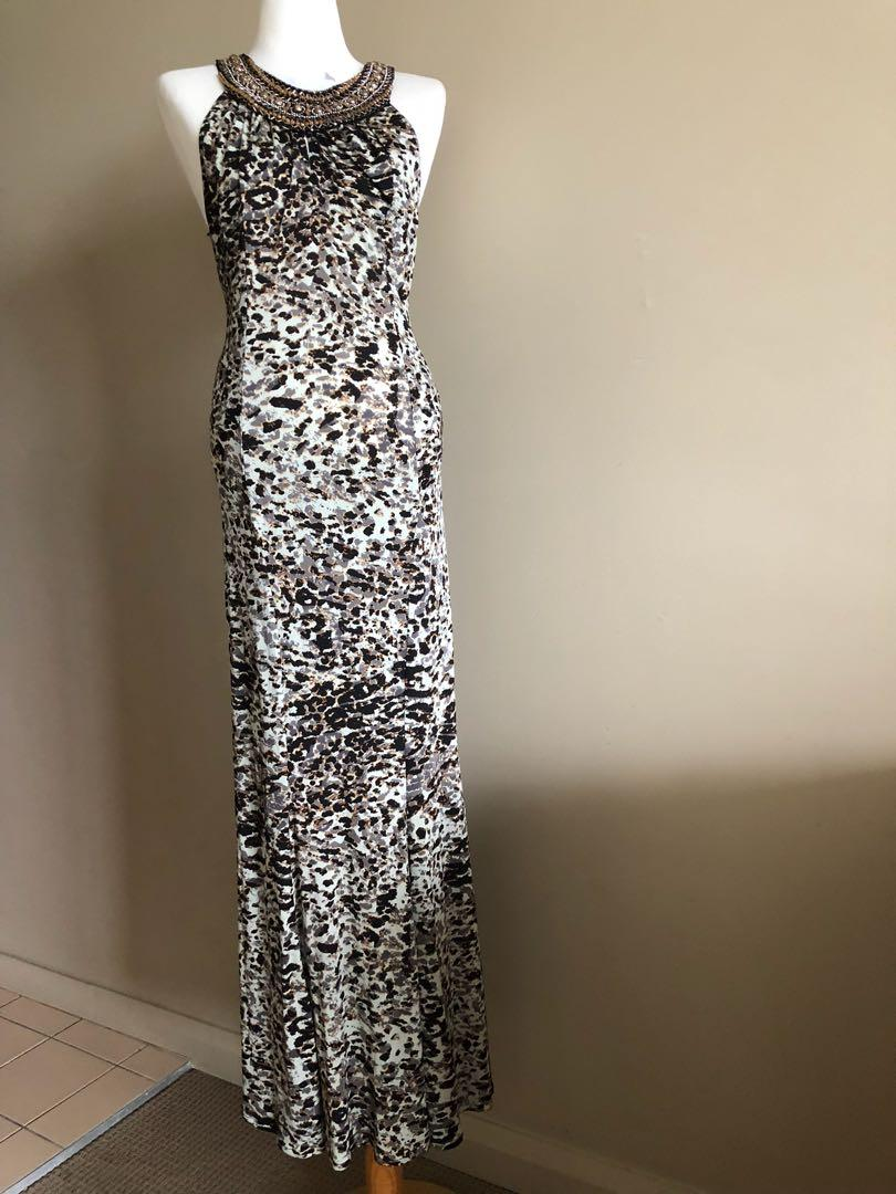 Orna Farho maxi dress in size 36, Aus 6-8