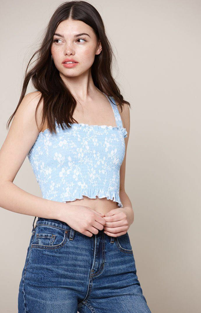 1c5a65317c13a0 PACSUN • Me To We Bandito Smocked Tube Tank Top