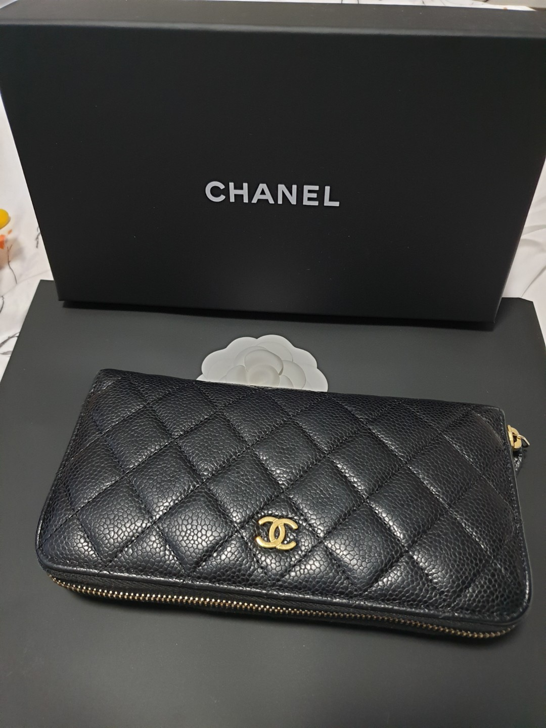 33a17676f0f582 Preloved Chanel wallet, Luxury, Bags & Wallets, Wallets on Carousell