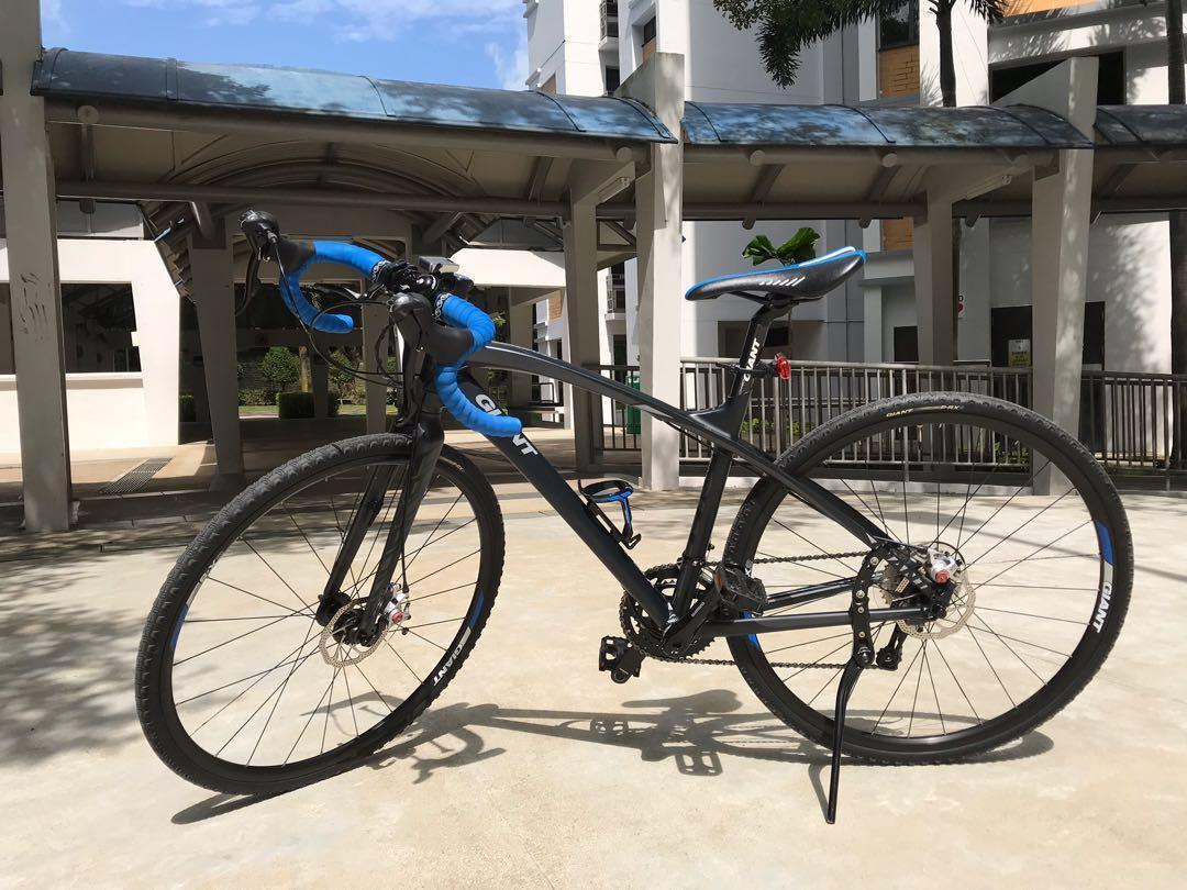 Rare black/ blue Giant AnyRoad 1 hybrid bike for road