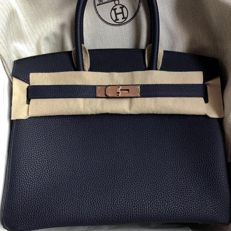 a4dcc702be14 GOOD DEAL! RARE RGHW NEW HERMES BIRKIN 30 BLUE NUIT TOGO 2019 ...