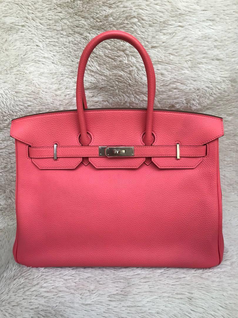 d4b0e01137 Rare⚡️Hermes Birkin 35 Pink Rose Lipstick Togo PHW