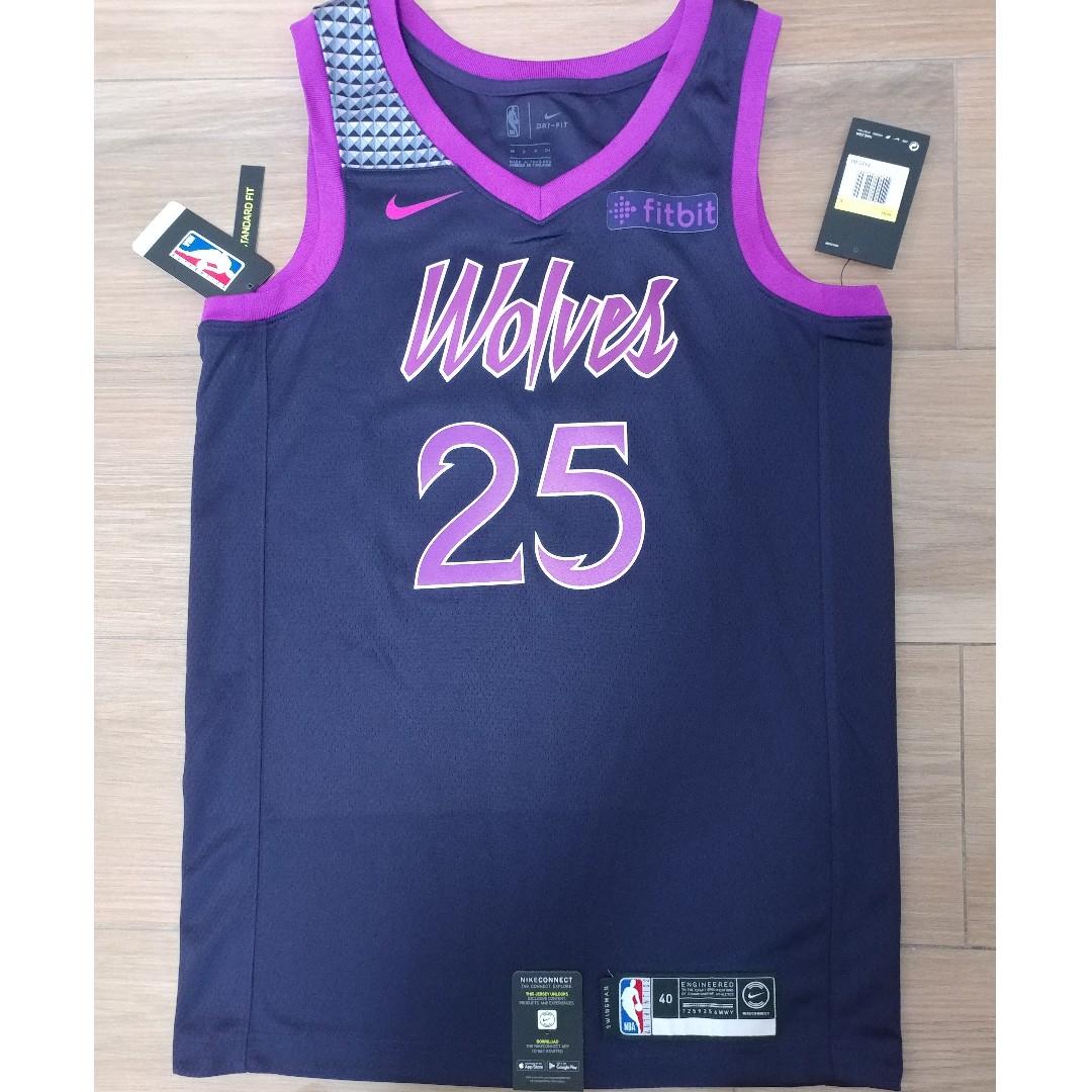 timeless design ca1ba f4d97 SELL NWT Nike Minnesota Timberwolves Derrick Rose City Edition Jersey Sz40,  44 james curry