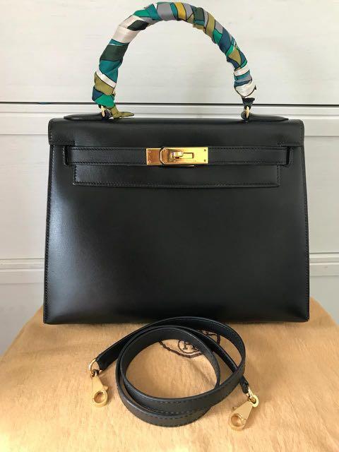 a9272aa7c5f5 ✓️SOLD Pre💝 Hermes Kelly 28 Black Box Sellier GHW U🔘