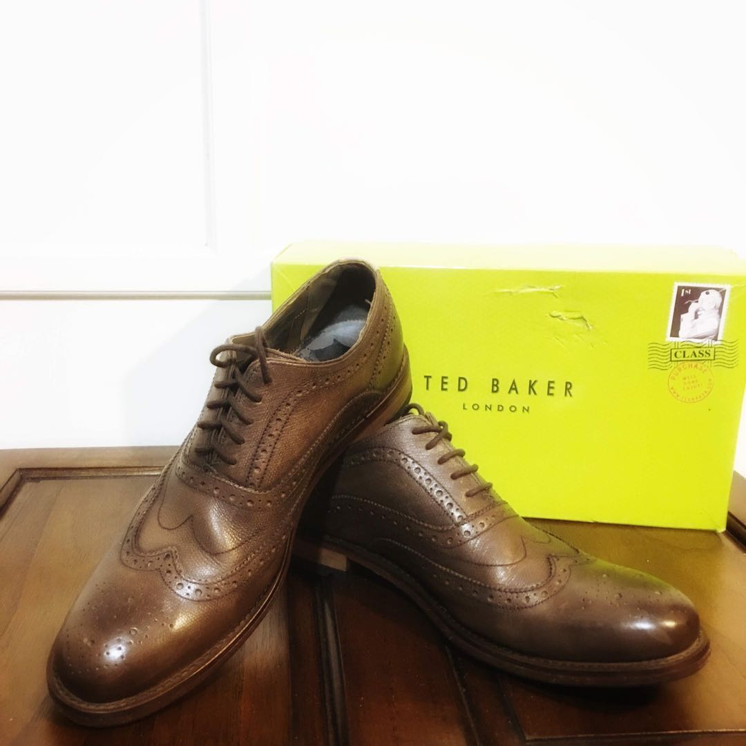 f37997ea166 Ted Baker Brown Guri 5 Men s Leather Shoes Brogue Lace Up