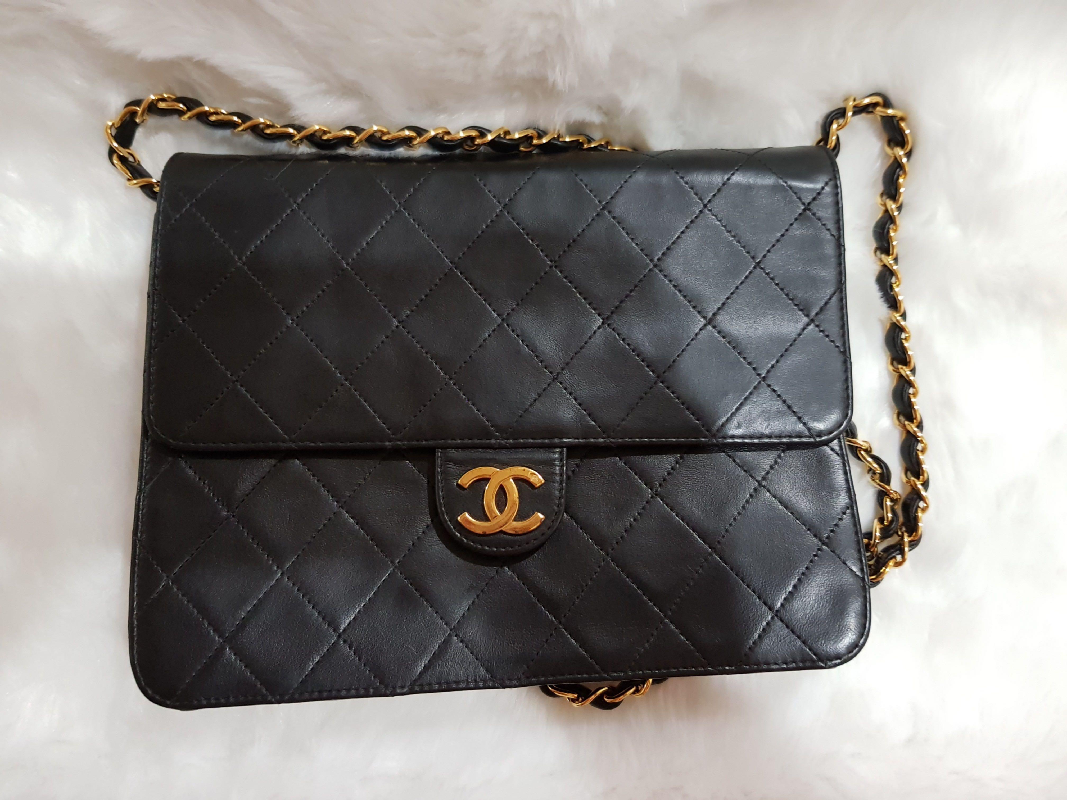 2cc0531ba619 Vintage black Chanel sling bag