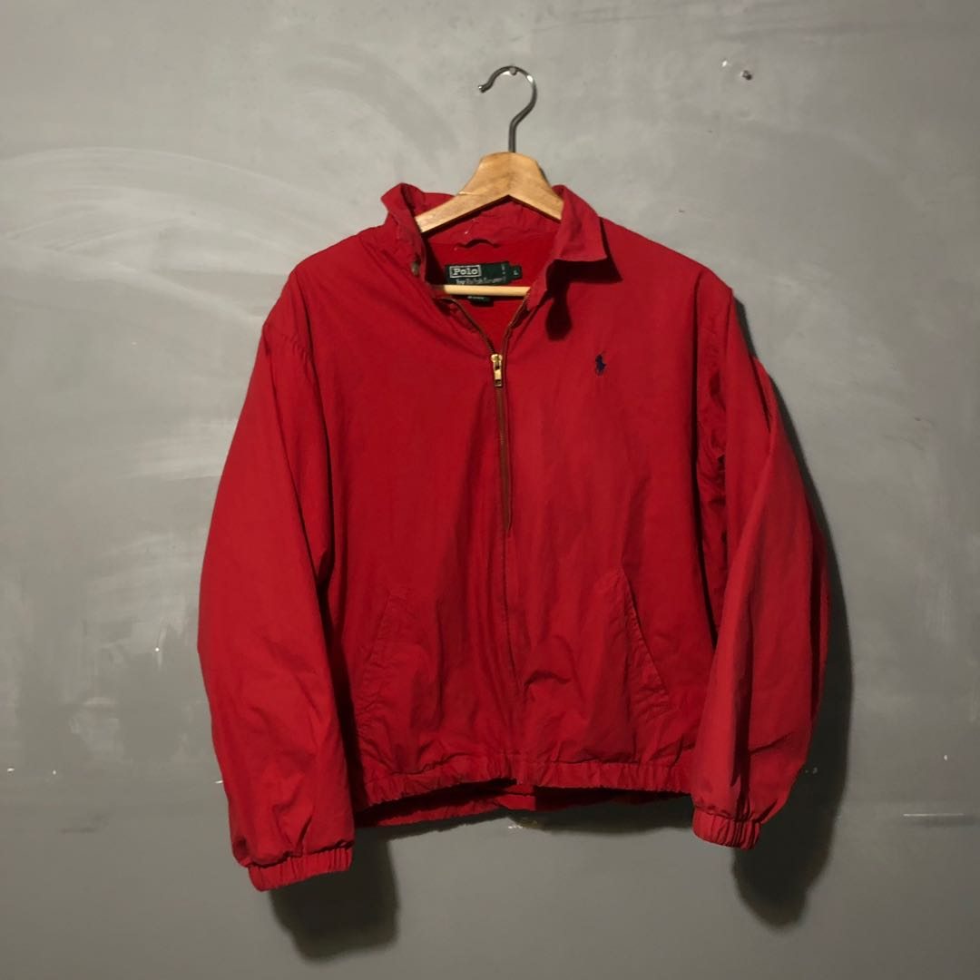44d2889789 VINTAGE POLO RALPH LAUREN RED JACKET, Men's Fashion, Clothes, Tops ...