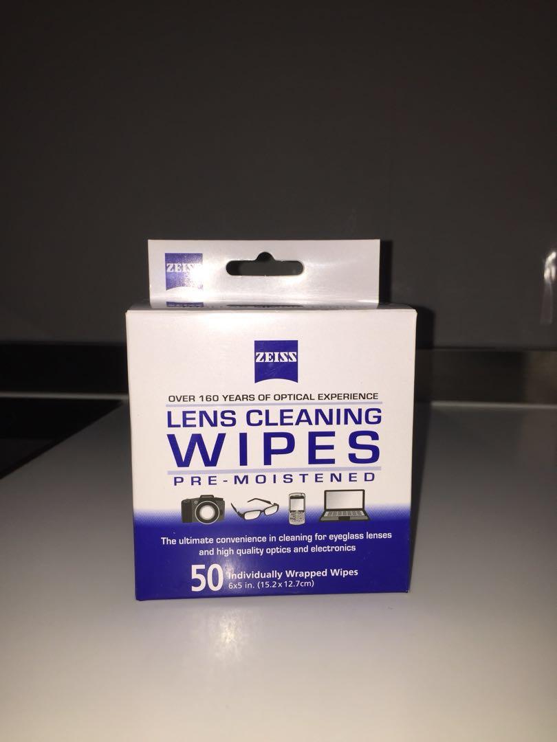 Zeiss optical-grade lens wipes x 50