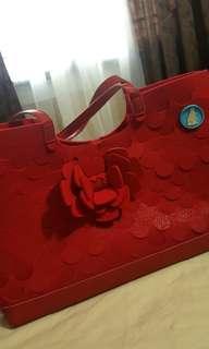 """""""M.R.K.T"""" Large Shoulder Bag, Color: Cardinal Red"""